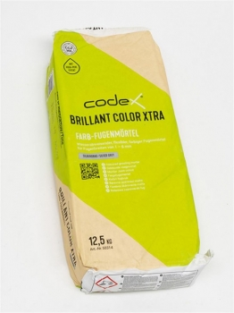 Silbergrau Farb-Fugenmörtel  12,50 Kg Brillant Color Xtra Codex